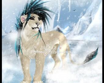 Winter Zima Lioness PRINTS