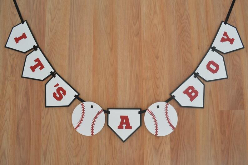 Baseball It S A Boy Banner Baseball Theme Baseball Etsy