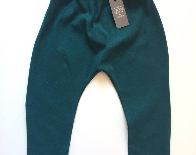 SALE / Forest Green Harem Toddler Pants