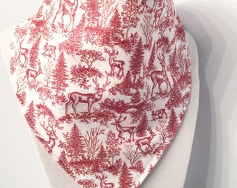 Winter Forest - Christmas - bandana style -organic cotton bib