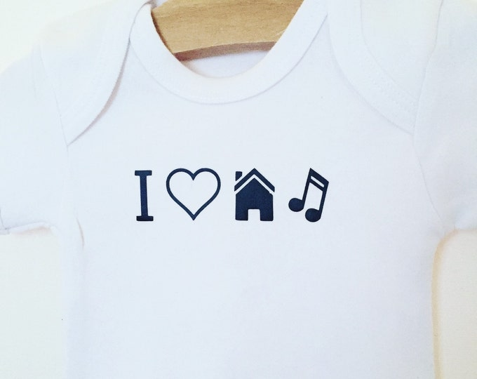 I love House music bodysuit