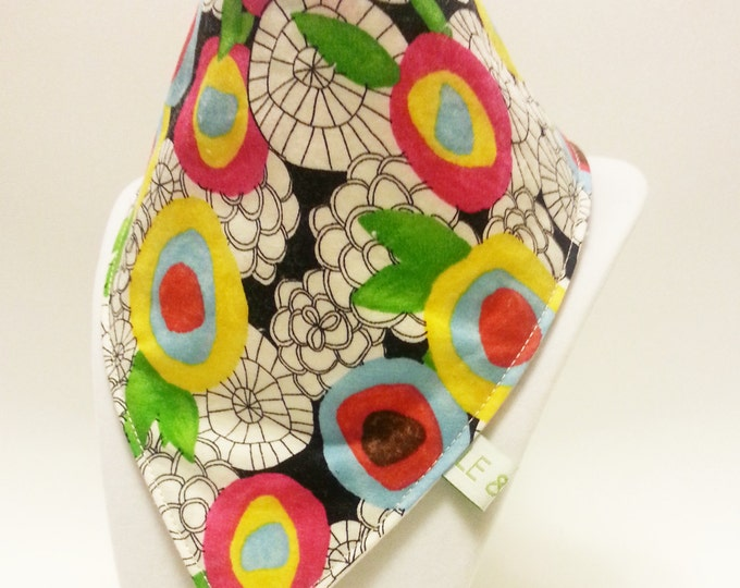 bandana bib (watercolour flowers)