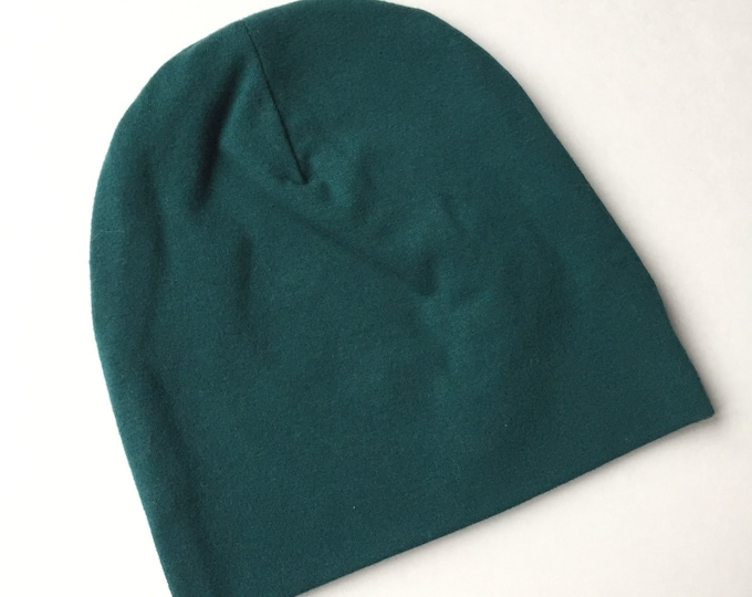 Forest Green baby beanie hat