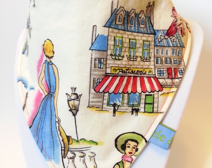Parisienne bandana bib
