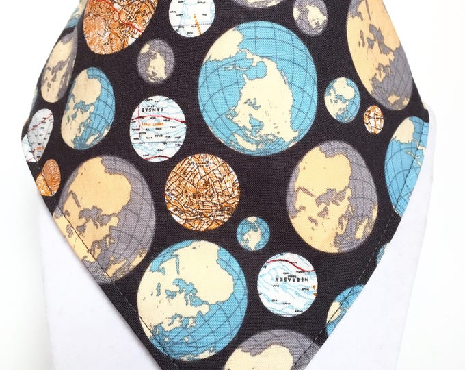 World Map bandana style drool bib