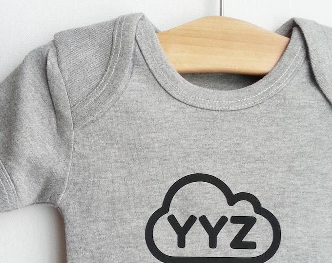 YYZ - Toronto airport code baby body suit