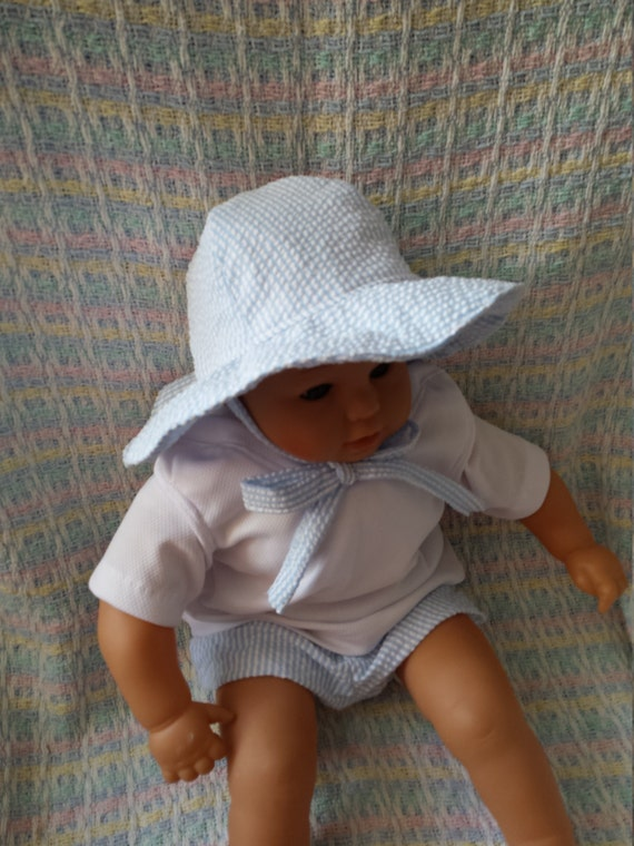 SYDNEY Seersucker floppy Sun hat boy   girl Beach pool summer  6484502cd49