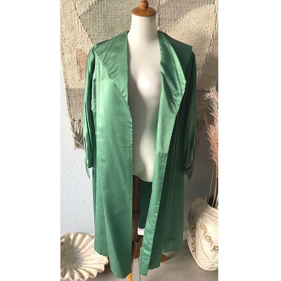 Vintage 40s/50 emerald satin evening opera / swing