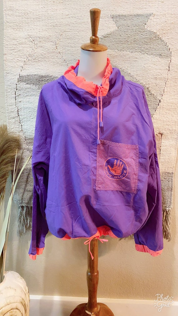 Vintage 80s Body Glove purple/pink windbreaker