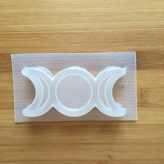 2 oz Triple Moon Mold Bath Bom Mould Flexible Plastic Food Safe Soap Witch Wicca