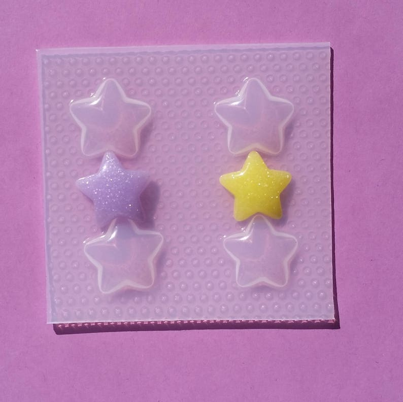 Chunky Bubble Star Resin Mold Mould Casting Craft Food Safe Stars Puffy Molds