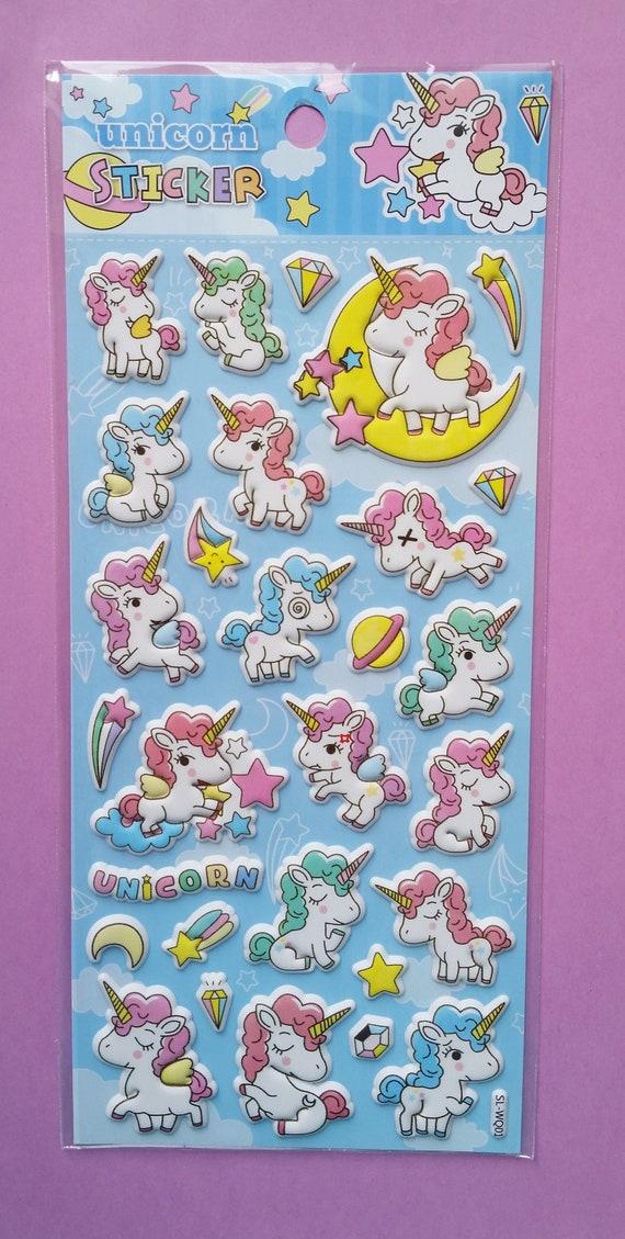 Unicorn Craft Stickers Puffy 3d Effect Adhesive.