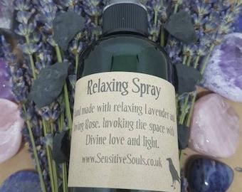 Relaxing Spray 100ml. Aids sleep and meditation