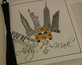 New York City Engagement Card