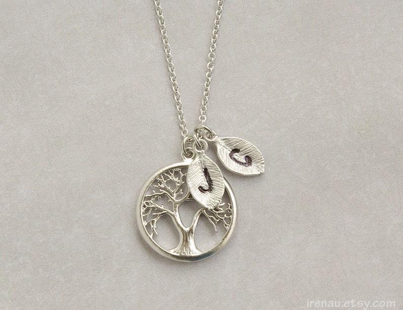 a605bb47c1c Arbre de famille personnalisé collier pendentif arbre de vie