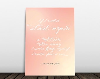 Song lyric print kurt cobain quote nirvana quote nirvana etsy nin nine inch nails lyric print song lyric print trent reznor quote nine inch nails quote hurt typography art print music poster stopboris Gallery