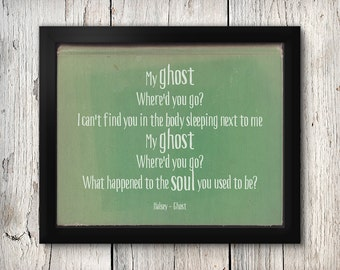 Song lyric print kurt cobain quote nirvana quote nirvana etsy halsey ghost halsey badlands print song lyric print halsey badlands ghost lyrics badlands typography lyric print halsey stopboris Gallery