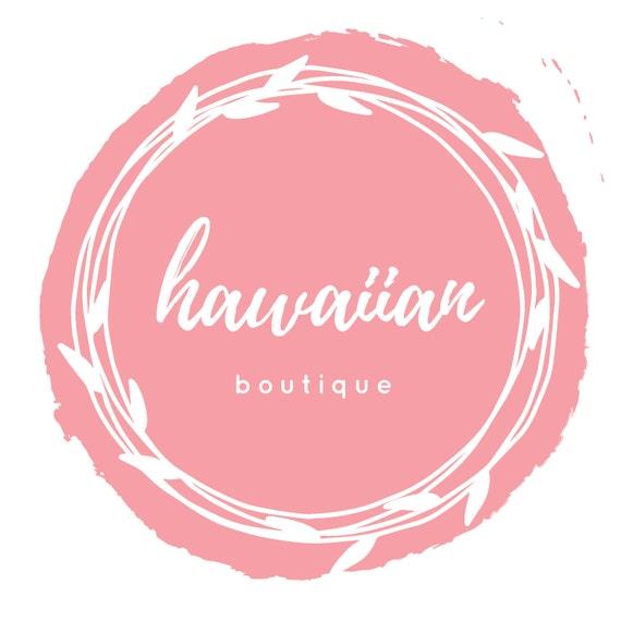 Hawaiano Boutique Logo Diseño de logotipo de la tienda en