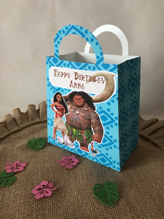 Moana Party Favor Gift Bag Set Of 12 Bags