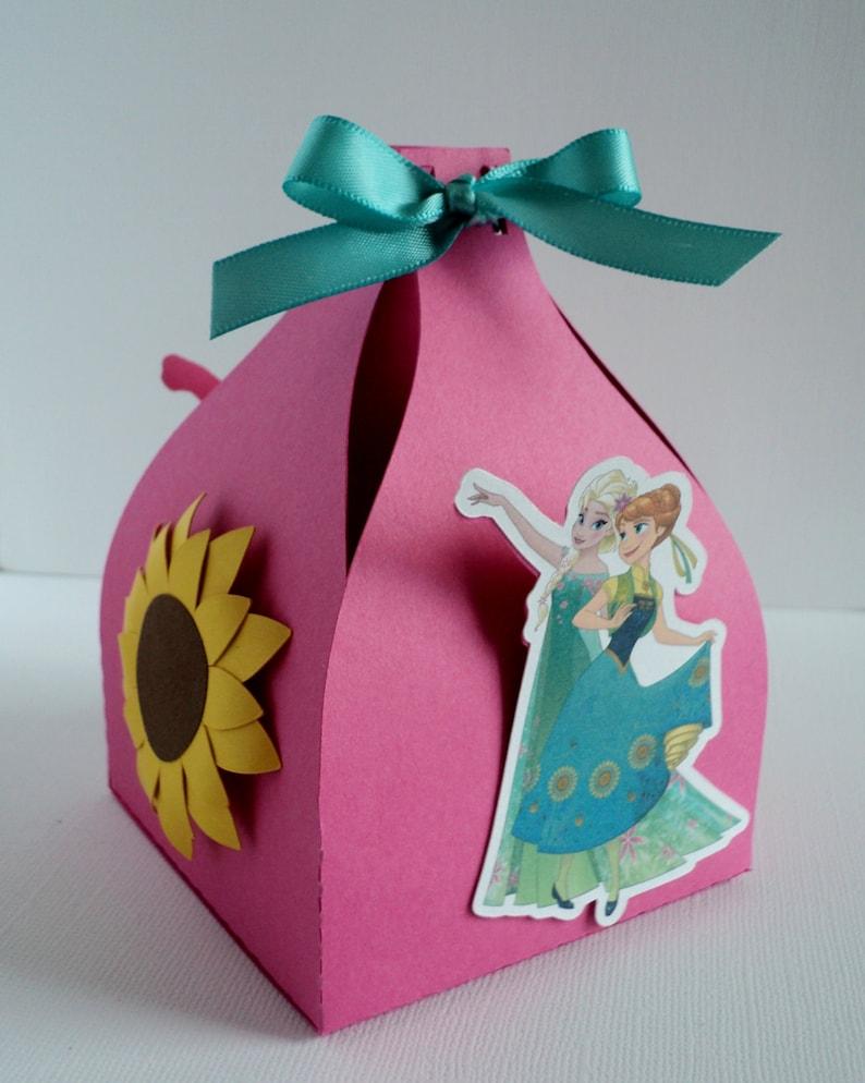 Little Gift Box Frozen Inspired. Frozen Fever Favor Box Set of 12
