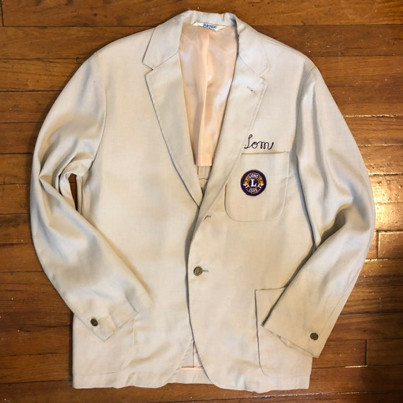 Vintage 1960s Lions Club Blazer with Embroidered P