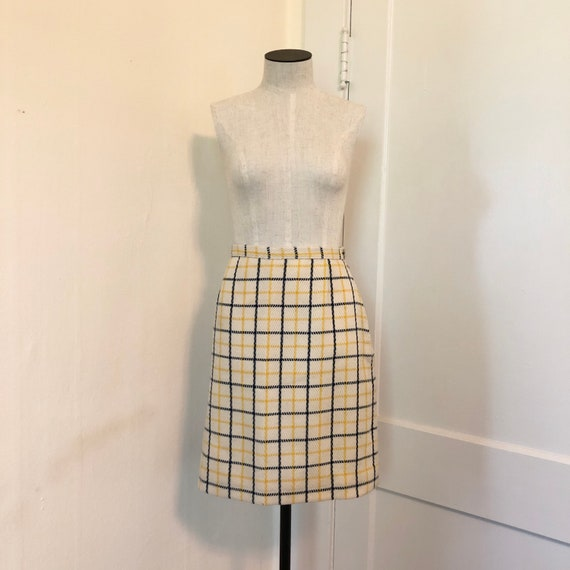 Vintage 1960s Plaid Windowpane Mod Suit Blazer Sk… - image 3