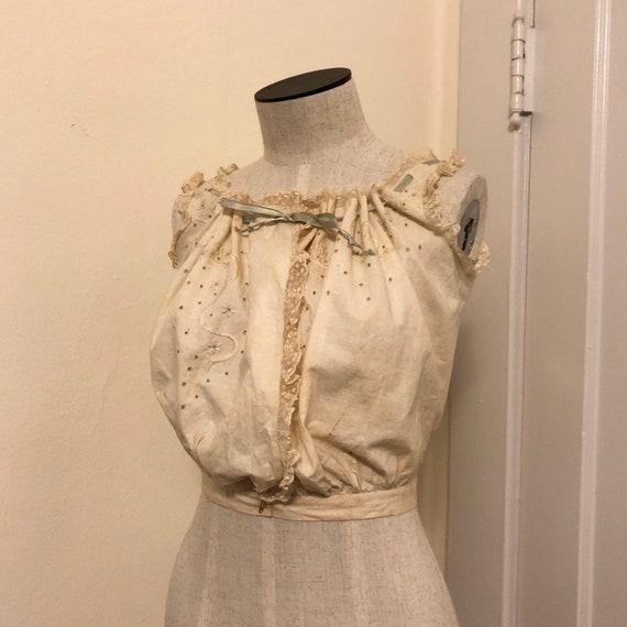 Vintage 1800s Victorian Edwardian Corset Cover Ca… - image 2