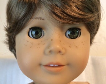 """Vintage New Playhouse Collection JOHNNY Lt Brown Doll Wig Size 10""""-11"""""""