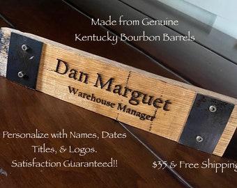 Kentucky Bourbon Barrel nameplate.