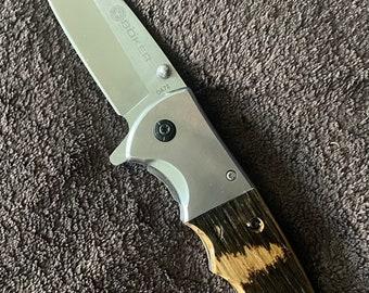 Bourbon Barrel Handled Pocket Knife