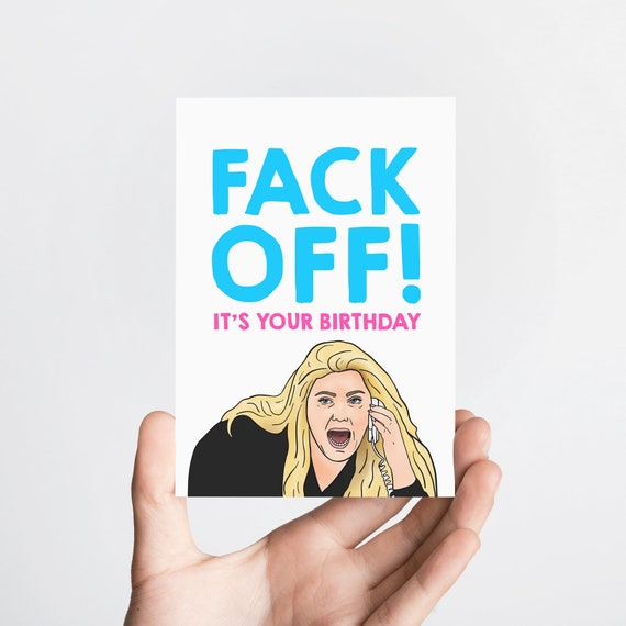 Gemma Collins Funny Birthday Card Memes Fuck Off Funny Etsy