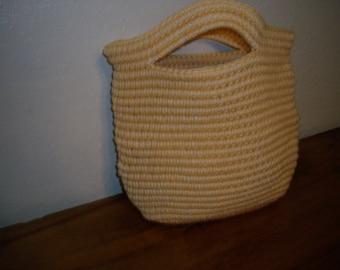 Enviromentally Smart Medium Size Handbag-Sunshine Yellow