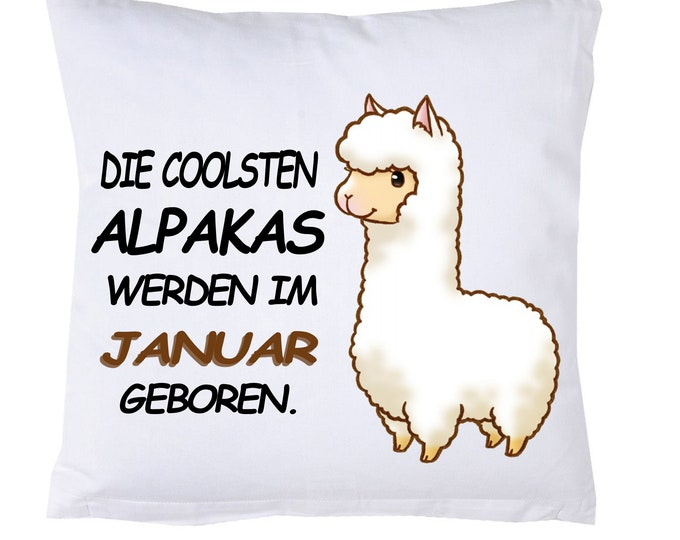 ALPAKA Pillow ''The coolest alpacas born in April.''