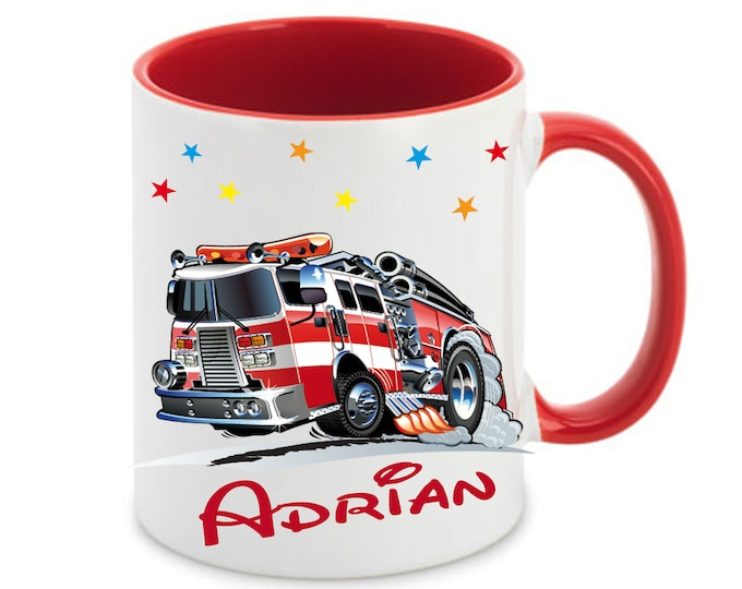 Cup with name fire brigade children's mug