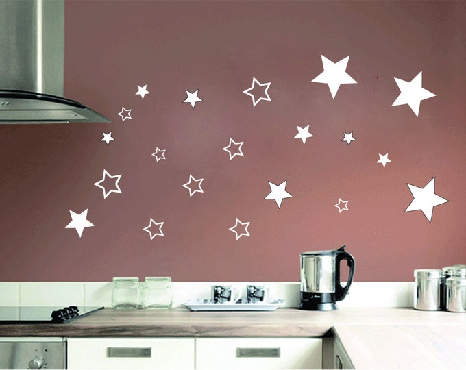 Walltattoo star set 20pcs wall sticker Wall Sticker Decoration