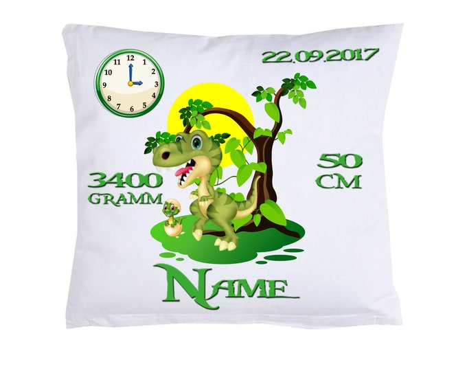 Dinos birth pillow with your own data