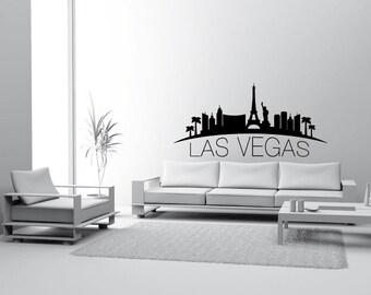 Skyline Las Vegas Walltattoo Wall sticker Wall Sticker Decoration