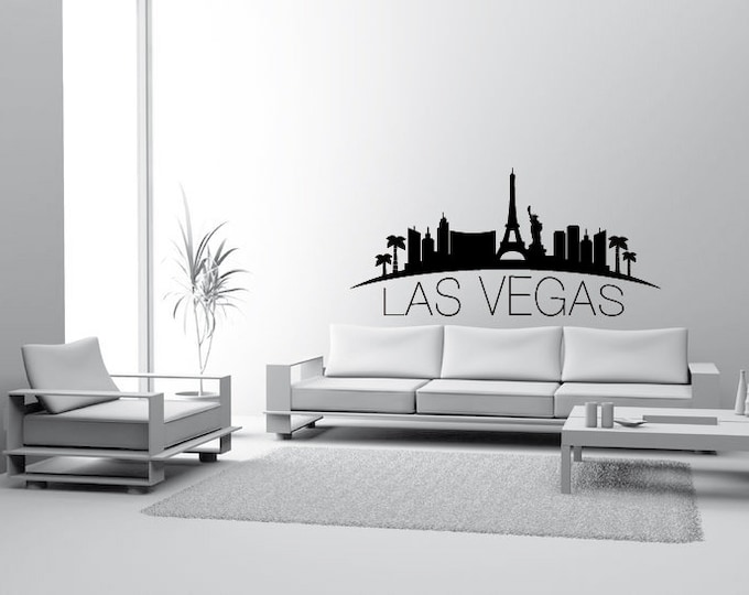 Skyline Las Vegas Walltattoo Wall sticker Wall Sticker Decoration