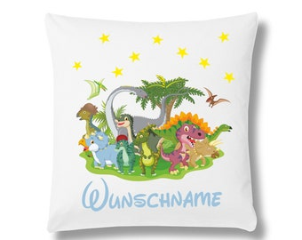 Pillow cover Dino's birth or baptism + name
