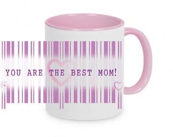 Cup Barcode Best Mom Super Mom Secret Message mug