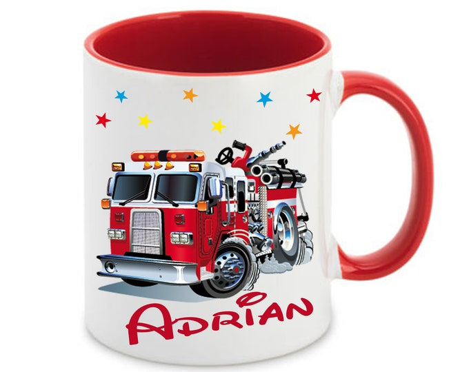 Cup with name fire brigade