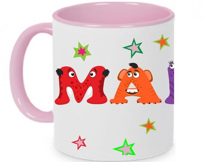 Mug of names Birthday mug monsters