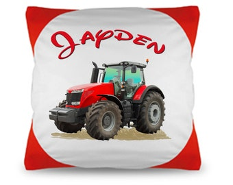 Cuddly pillow named Pillow Tractor Wish name