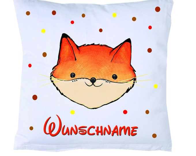 Cuddly pillow FUCHS + name children's pillow