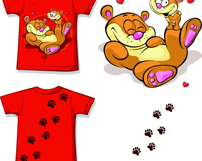 Baby T-shirt Little Baer 62 - 86 in 4 colors