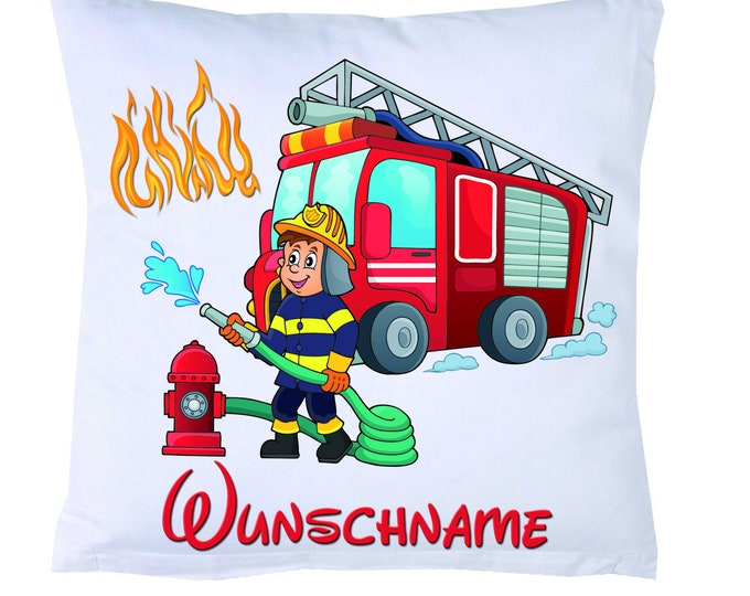 Kids Pillow Fire Brigade #1 + Filling + Name