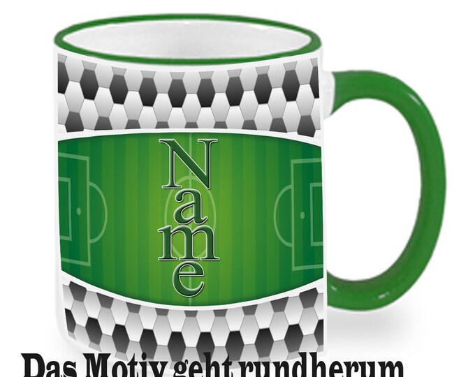 Cup with Name soccer Field children Cup mug personalized