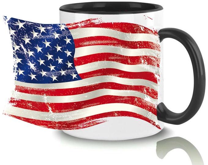 Mug named USA flag