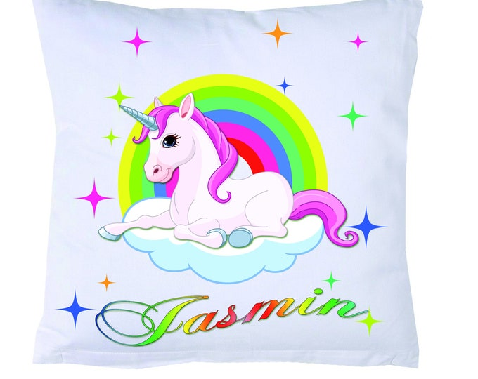 Name Pillow Rainbow Unicorn #2