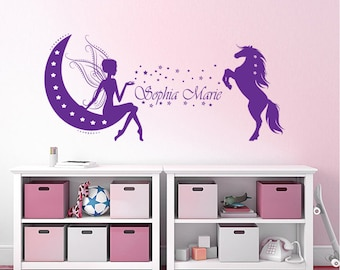 Wall Decals Children's room named Unicorn elf